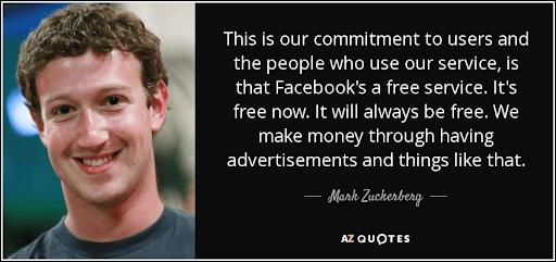 Zuckerberg's says